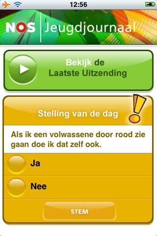Jeugdjournaal App screen